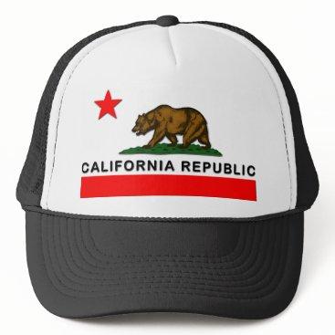 Halloween Themed California Republic Trucker Hat