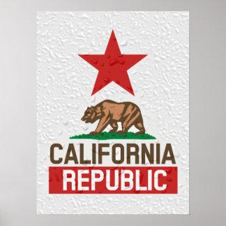 California  Republic Wet Poster
