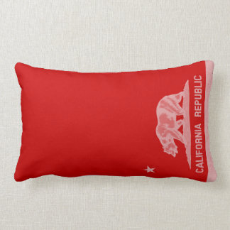 California Republic (White) Throw Pillow