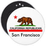 """California Republican 2010 6"""" Button"""