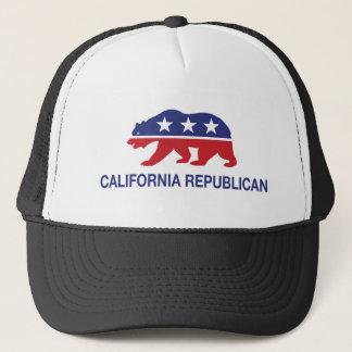 California Republican Bear Trucker Hat