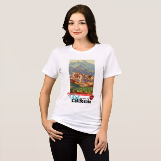 California Restored Vintage Travel Poster T-Shirt