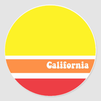California retro sticker