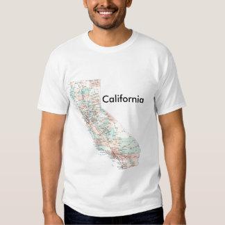 california-road-map, California Tshirt