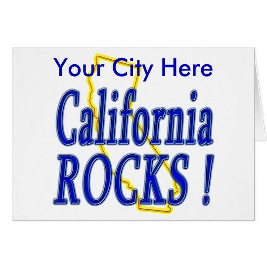 California Rocks ! Card