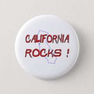 California ROCKS Pinback Button