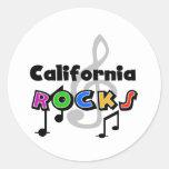 California Rocks Round Sticker