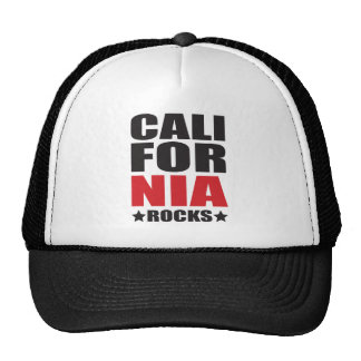California Rocks! State Spirit Gifts and Apparel Trucker Hat