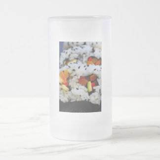 California Roll Sushi 16 Oz Frosted Glass Beer Mug