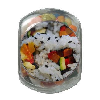 California Roll Sushi Glass Jar