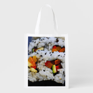 California Roll Sushi Reusable Grocery Bags