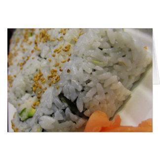 California Roll - Vegetarian Sushi Cards