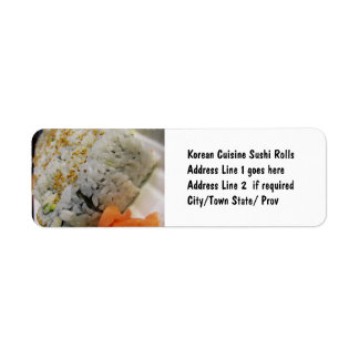 California Roll - Vegetarian Sushi Label