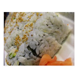 California Roll - Vegetarian Sushi Post Card