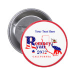 California Romney and Ryan 2012 Button Customize 2