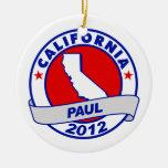 California Ron Paul Christmas Ornament