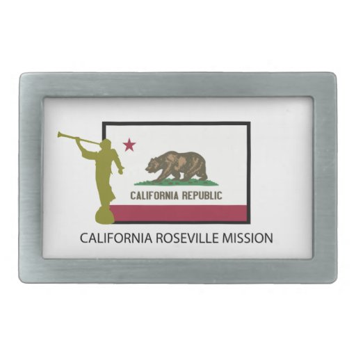 CALIFORNIA ROSEVILLE MISSION LDS CTR BELT BUCKLES