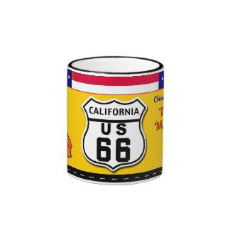 California - Route 66 Ringer Coffee Mug