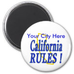 California Rules ! Refrigerator Magnet
