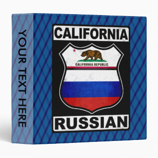 California Russian American Binder
