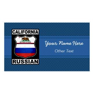 California Russian American Custom Business Cards