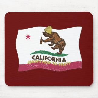 California sabe ir de fiesta el oso alfombrillas de ratones
