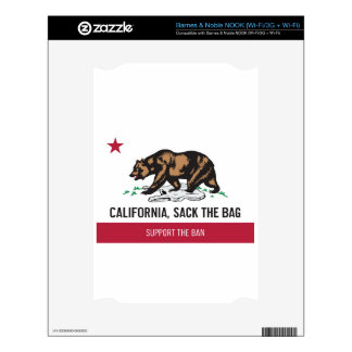 California, Sack the Bag Decal For NOOK