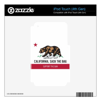 California, Sack the Bag Decals For iPod Touch 4G