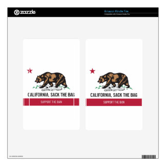California, Sack the Bag Kindle Fire Decals