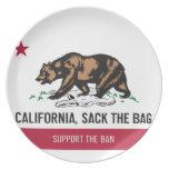 California, Sack the Bag Plates