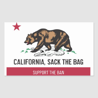 California, Sack the Bag Rectangular Sticker