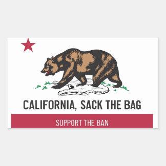 California, Sack the Bag Rectangle Stickers