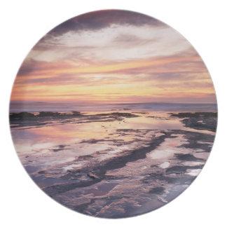 California, San Diego, Sunset Cliffs, Sunset 1 Dinner Plate