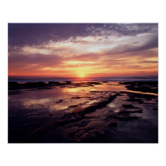 California, San Diego, Sunset Cliffs, Sunset 3 Poster