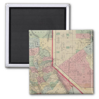 California, San Francisco Map by Mitchell Fridge Magnets