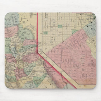 California, San Francisco Map by Mitchell Mouse Pad