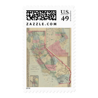California, San Francisco Map by Mitchell Postage Stamp