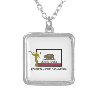 CALIFORNIA SANTA ROSA MISSION LDS CTR SILVER PLATED NECKLACE