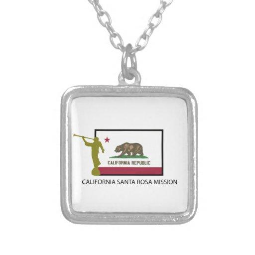 CALIFORNIA SANTA ROSA MISSION LDS CTR SQUARE PENDANT NECKLACE