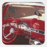 California:  Santa Ynez Valley, Solvang, 1957 Pegatina Cuadrada