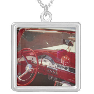 California:  Santa Ynez Valley, Solvang, 1957 Silver Plated Necklace