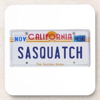 California Sasquatch License Beverage Coaster