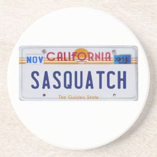 California Sasquatch License Coasters