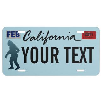 California Sasquatch License Plate