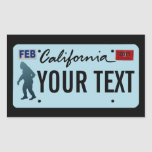 California Sasquatch License Plate Rectangular Sticker