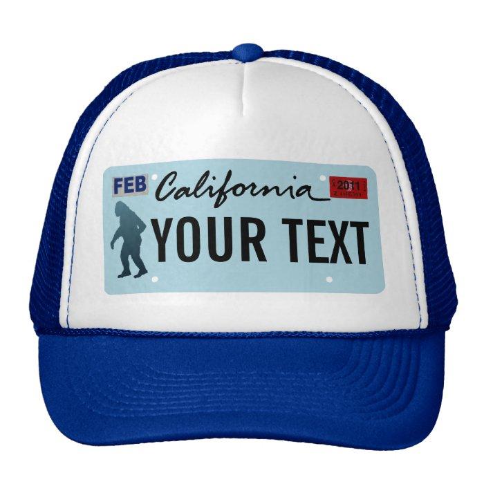 California Sasquatch License Plate Trucker Hat