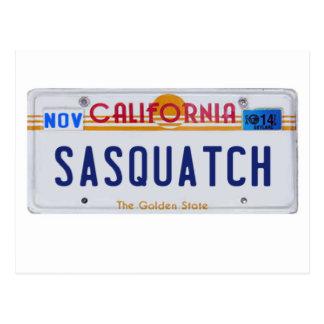 California Sasquatch License Post Card