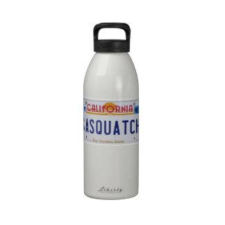 California Sasquatch License Reusable Water Bottle