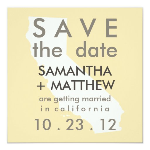 California Save the Date Cards Invites
