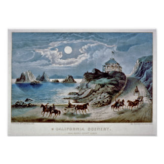 California scenery: Seal rocks-Point Lobos Poster